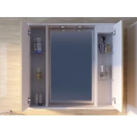 Зеркальный шкаф Ювента Моника МШНЗ3-100  Белый