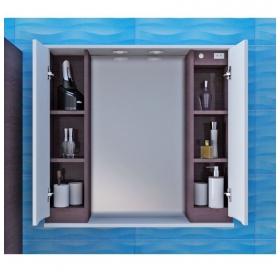 Зеркальный шкаф Ювента Моника МШНЗ3-87  Белый