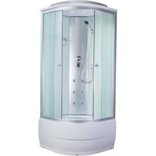 Гидробокс с белыми стенками и на глубоком поддоне 900*900*2150 мм, VE90x90-Fabr