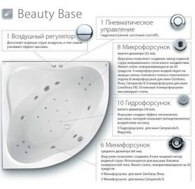 Гидромассажная Ванна Ravak ROSA II Beauty Base 160x105 асимметричная правая (пан..