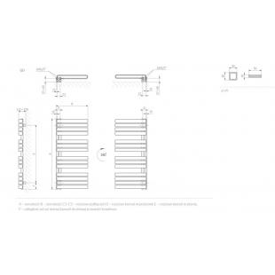 Полотенцесушитель водяной/электрический Terma Warp S 1110x500, WGWAS111060