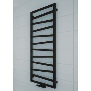 Полотенцесушитель водяной/электрический Terma ZIGZAG  1310x500 Black mat ZX, WGZIG131050