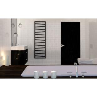 Полотенцесушитель водяной/электрический Terma ZIGZAG 1540*500 Black mat ZX, WGZIG154050