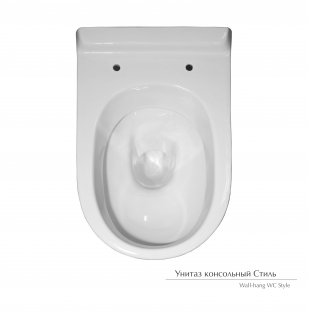 Унитаз консольный Керамин Стиль с жестким сиденьем 70655115