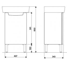 Шкафчик под умывальник Kolo REKORD 40 х 59,1 х 32,5 см, венге, 89544000