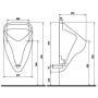 Писсуар Kolo ALEX / NOVA TOP горизонтальный выпуск, верхний подвод