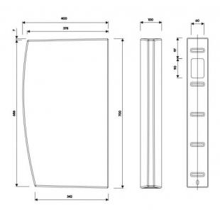Перегородка межписсуарная Kolo FELIX / ALEX 70x40 см