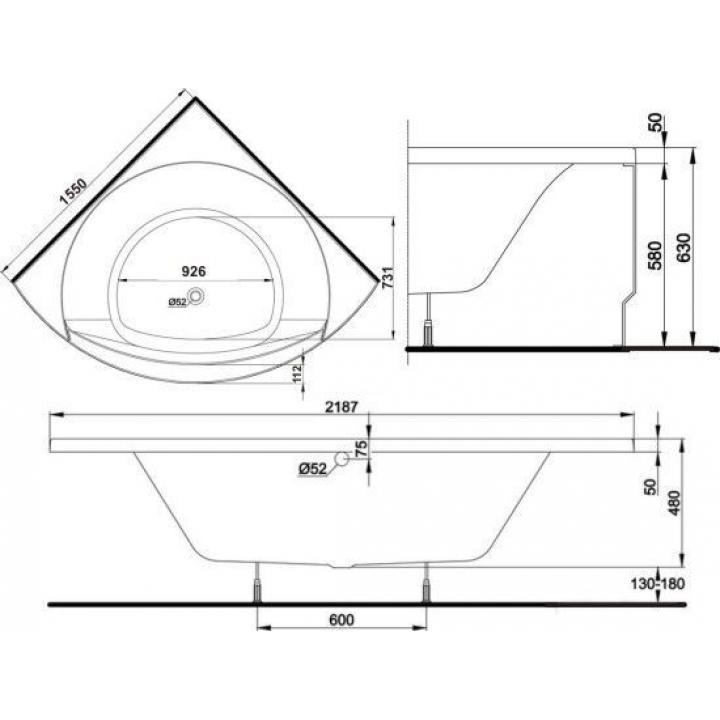 Панель для ванны Kolo MAGNUM с креплением