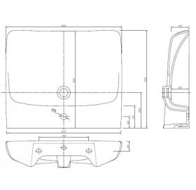 Раковина Kolo NOVA PRO 65 см для инвалидов, с отверстием