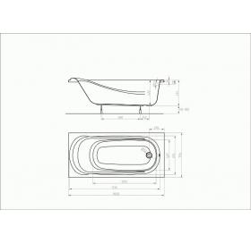 Ванна акриловая KOLO SAGA XWP3860000 160 + ножки SN0