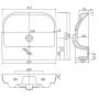 Раковина мебельная Kolo TRAFFIC 55 см, с отверстием, L91155000