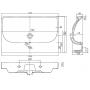 Раковина мебельная Kolo TRAFFIC 75 см, с отверстием, L91175000