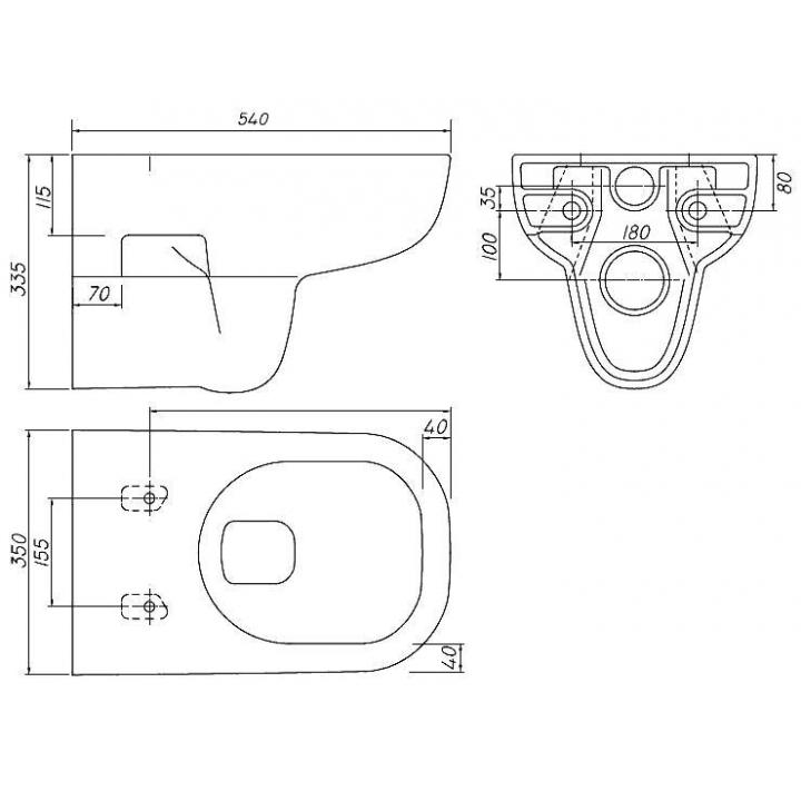 Чаша подвесного унитаза Kolo TRAFFIC L93100