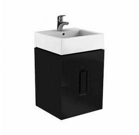 Шкафчик под умывальник Kolo TWINS 50 см с двумя ящиками, черный матовый, 89491000