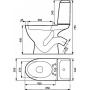 Унитаз-компакт EKO 020 с сиденьем из полипропилена
