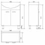 Комплект: тумба Cersanit ALPINA + раковина Cersanit LIBRA 60 см