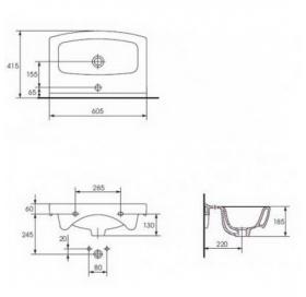 Мебельная раковина Cersanit CERSANIA 60 K11-0167