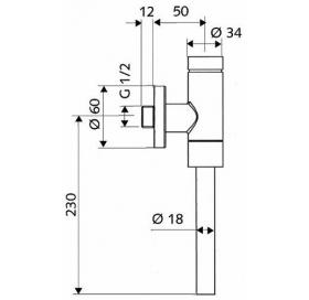 Автоматическое смывочное устройство для писсуара KOLO  SCHELLOMAT (пол.)  , 96017000  хром