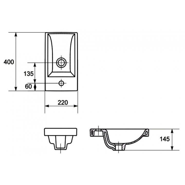 Мебельная раковина Cersanit COMO 40 K32-001-BOX