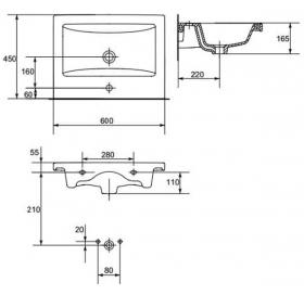 Мебельная раковина Cersanit COMO 60 K32-011