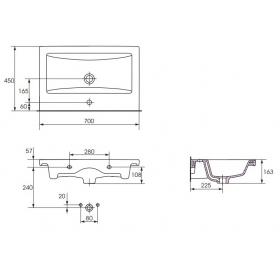 Мебельная раковина Cersanit COMO 70 K32-015