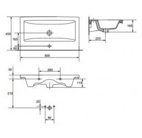 Мебельная раковина Cersanit COMO 80 K32-004-BOX