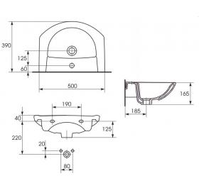 Мебельная раковина Cersanit LIBRA 50 K04-021