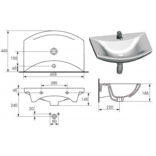 Мебельная раковина Cersanit OMEGA 65 K11-0003