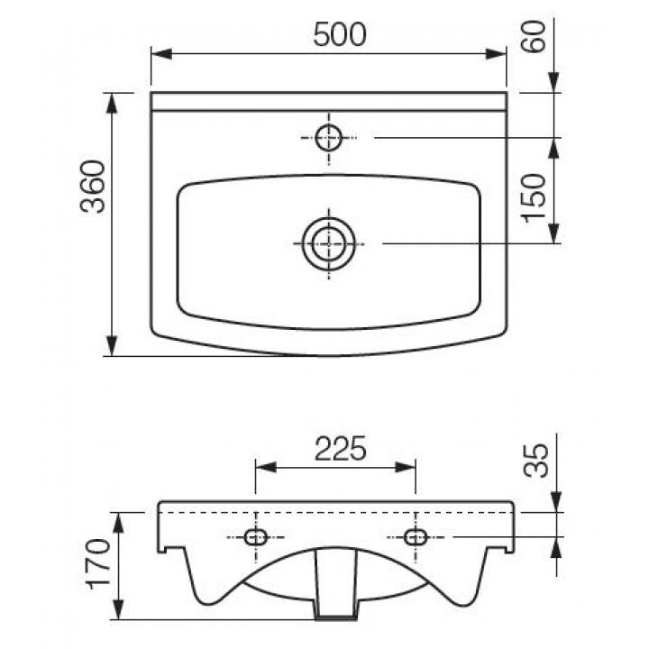 Мебельная раковина CERSANIA NEW 50 K11-0163