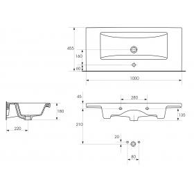 Мебельная раковина Cersanit COMO 100 K32-016-EX1