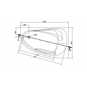 Ванна Cersanit JOANNA  NEW 150 X 95 асимметричная правая S301-167