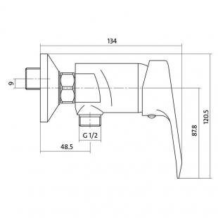 Смеситель для душа Cersanit AMET S951-027