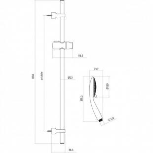 Душевой набор со стойкой Cersanit Senti S951-020