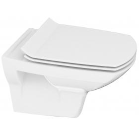 Унитаз подвесной Cersanit CARINA CLEAN ON  с сиденьем slim soft-close