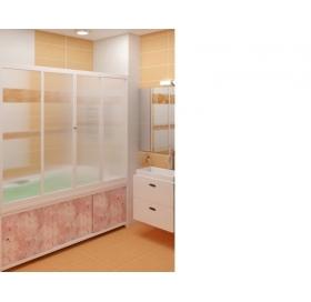 Шторы для ванны МетаКам Koup 150 /140 /  4  сексции