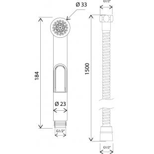 Гигиенический душ со шлангом и держателем АМ.РМ F0202000