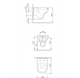 Унитаз подвесной AM.PM Like C801700SC FlashClean с сиденьем Soft Close