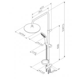 Душевая система AM.PM Like ShowerSpot F0780000