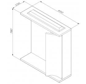 Зеркальный шкафчик с подсветкой AM.PM Like 65 M80MCR0651VF38 правый