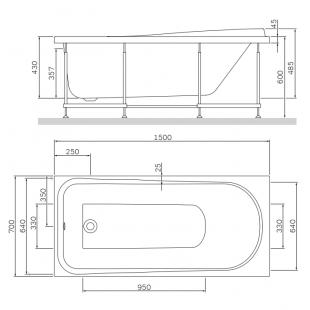 Панель для ванны фронтальная AM.PM Like 150х70 W80A-150-070W-P