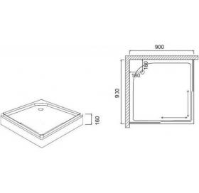 Душевой поддон AM.PM Like Square 100х100 W80T-303-100W