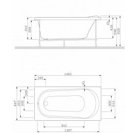 Панель для ванны фронтальная AM.PM Spirit 150х70 W72A-150-070W-P2