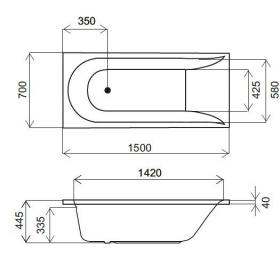 Каркас для ванны AM.PM Spirit 150x70 W72A-150-070W-R2