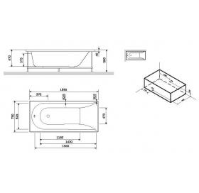 Панель для ванны фронтальная AM.PM Spirit 170х75 W72A-170-075W-P2