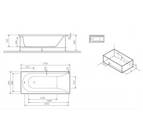 Панель для ванны фронтальная AM.PM Spirit 180х80 W72A-180-080W-P2