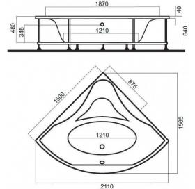 Ванна акриловая AM.PM Bliss 150х150 W55A-150C150W-A