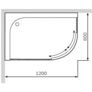 Душевой поддон AM.PM Bliss Twin Slide 120х80 левосторонний W56T-302L120W