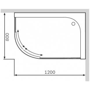 Душевой поддон AM.PM Bliss Twin Slide 120х80 правосторонний W56T-302R120W