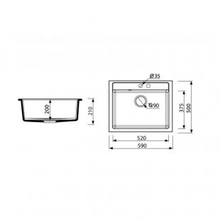 Кухонная мойка ARGO CUBO 59 в ассортименте, ARG1