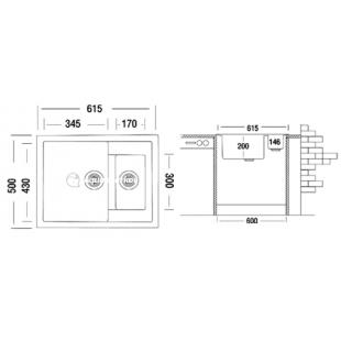 Кухонная мойка ARGO Lorry 61.5 в ассортименте